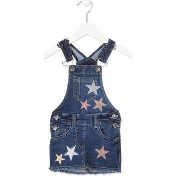 Textil Děti Overaly / Kalhoty s laclem Losan 816-7017AD Modrý