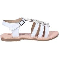Boty Dívčí Sandály Asso 65952 Bílý