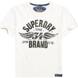 Textil Muži Trička s krátkým rukávem Superdry M10003TR Bílý