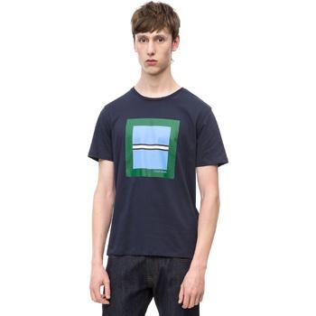 Textil Muži Trička s krátkým rukávem Calvin Klein Jeans K10K102679 Modrý