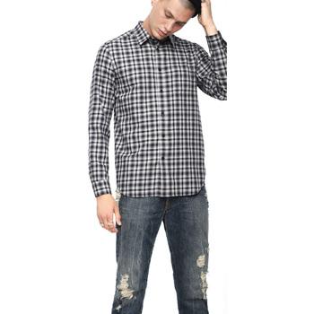 Textil Muži Košile s dlouhymi rukávy Diesel 00SLNG 0TATG Černá