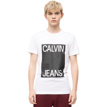 Textil Muži Trička s krátkým rukávem Calvin Klein Jeans J30J309839 Bílý
