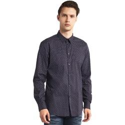 Textil Muži Košile s dlouhymi rukávy Gaudi 821BU45005 Šedá