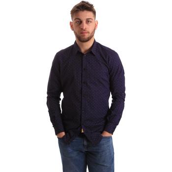 Textil Muži Košile s dlouhymi rukávy Gaudi 821BU45012 Modrý