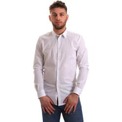 Textil Muži Košile s dlouhymi rukávy Gaudi 821BU45014 Bílý
