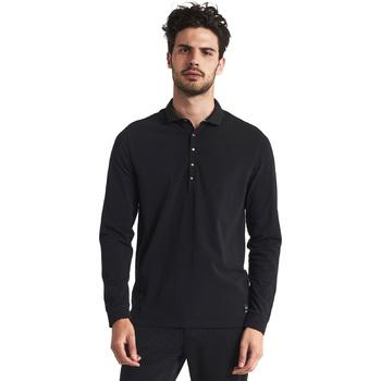 Textil Muži Polo s dlouhými rukávy Gaudi 821FU64012 Černá