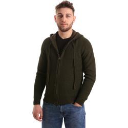 Textil Muži Svetry / Svetry se zapínáním U.S Polo Assn. 50519 52229 Zelený