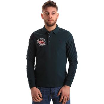 Textil Muži Polo s dlouhými rukávy U.S Polo Assn. 50615 47773 Zelený