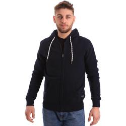 Textil Muži Mikiny Key Up 2F01I 0001 Modrý
