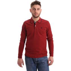 Textil Muži Polo s dlouhými rukávy Key Up 2RG71 0001 Červené