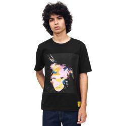 Textil Muži Trička s krátkým rukávem Calvin Klein Jeans J30J310572 Černá