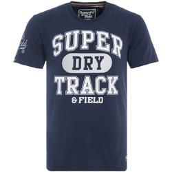 Textil Muži Trička s krátkým rukávem Superdry M10600NR Modrý