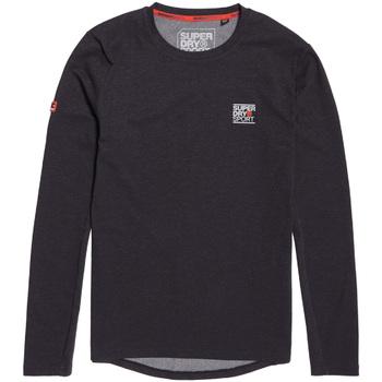 Textil Muži Trička s dlouhými rukávy Superdry MS3002RR Černá