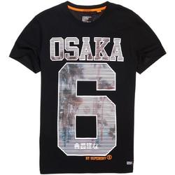 Textil Muži Trička s krátkým rukávem Superdry M10003HQ Černá