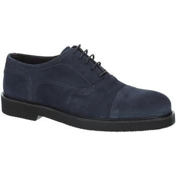 Boty Muži Šněrovací společenská obuv Exton 5496 Modrý