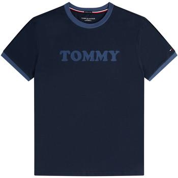 Textil Muži Trička s krátkým rukávem Tommy Hilfiger UM0UM01620 Modrý