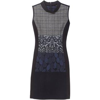 Textil Ženy Krátké šaty Desigual 18WWVW21 Modrý