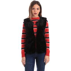 Textil Ženy Svetry / Svetry se zapínáním Geox W8425T TC117 Černá