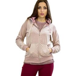 Textil Ženy Mikiny Key Up 5CS57 0001 Růžový