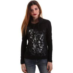 Textil Ženy Trička s dlouhými rukávy Key Up 5VG84 0001 Černá