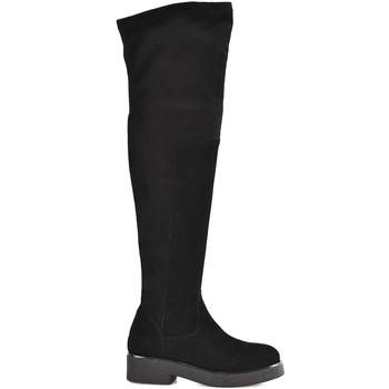 Boty Ženy Vysoké kozačky nad kolena Mally 6311 Černá