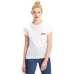 Textil Ženy Trička s krátkým rukávem Tommy Hilfiger DW0DW05385 Bílý