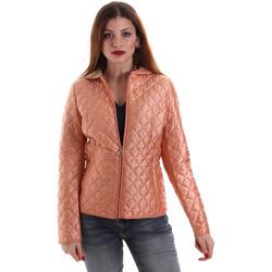Textil Ženy Prošívané bundy Geox W8220M T2435 Oranžový
