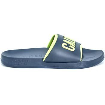 Boty Muži pantofle Calvin Klein Jeans KM0KM00376 Modrý