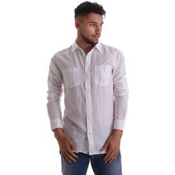 Textil Muži Košile s dlouhymi rukávy Gas 151150 Bílý