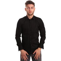 Textil Muži Košile s dlouhymi rukávy Antony Morato MMSL00375 FA450001 Černá