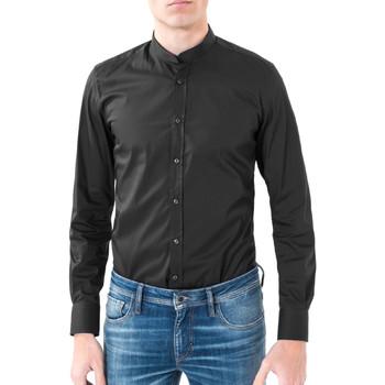 Textil Muži Košile s dlouhymi rukávy Antony Morato MMSL00376 FA450001 Černá