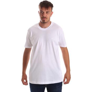 Textil Muži Trička s krátkým rukávem Key Up 2M915 0001 Bílý
