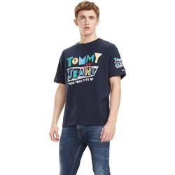 Textil Muži Trička s krátkým rukávem Tommy Hilfiger DM0DM06086 Modrý