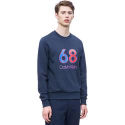 Textil Muži Mikiny Calvin Klein Jeans K10K102981 Modrý