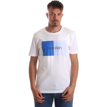 Textil Muži Trička s krátkým rukávem Calvin Klein Jeans K10K103497 Bílý
