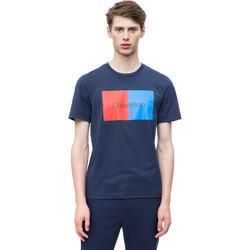 Textil Muži Trička s krátkým rukávem Calvin Klein Jeans K10K103497 Modrý