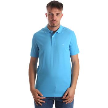 Textil Muži Polo s krátkými rukávy Calvin Klein Jeans K10K102758 Modrý