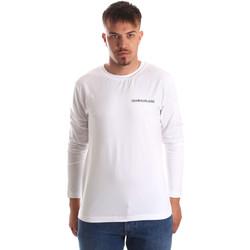 Textil Muži Trička s dlouhými rukávy Calvin Klein Jeans J30J310489 Bílý
