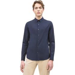 Textil Muži Košile s dlouhymi rukávy Calvin Klein Jeans J30J312439 Modrý
