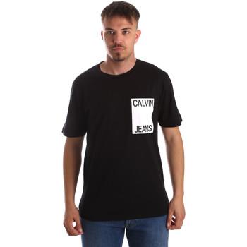 Textil Muži Trička s krátkým rukávem Calvin Klein Jeans J30J311326 Černá