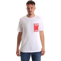 Textil Muži Trička s krátkým rukávem Calvin Klein Jeans J30J311326 Bílý