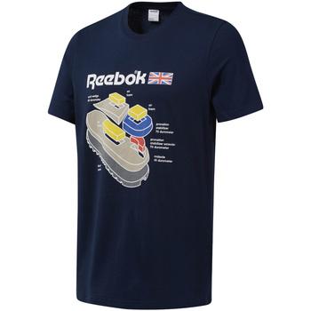 Textil Muži Trička s krátkým rukávem Reebok Sport DT9445 Modrý