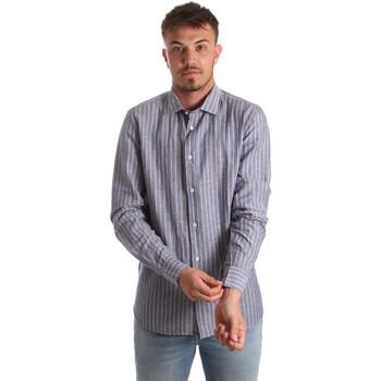 Textil Muži Košile s dlouhymi rukávy Antony Morato MMSL00520 FA420069 Modrý
