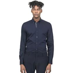 Textil Muži Košile s dlouhymi rukávy Antony Morato MMSL00523 FA450001 Modrý