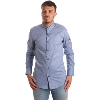 Textil Muži Košile s dlouhymi rukávy Antony Morato MMSL00526 FA430086 Modrý