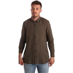 Textil Muži Košile s dlouhymi rukávy Antony Morato MMSL00530 FA400051 Hnědý