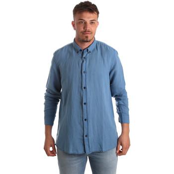 Textil Muži Košile s dlouhymi rukávy Antony Morato MMSL00530 FA400051 Modrý