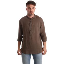 Textil Muži Košile s dlouhymi rukávy Antony Morato MMSL00531 FA400051 Hnědý