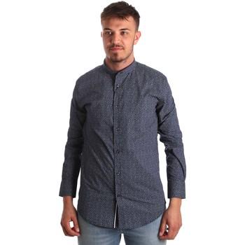 Textil Muži Košile s dlouhymi rukávy Antony Morato MMSL00532 FA430370 Modrý