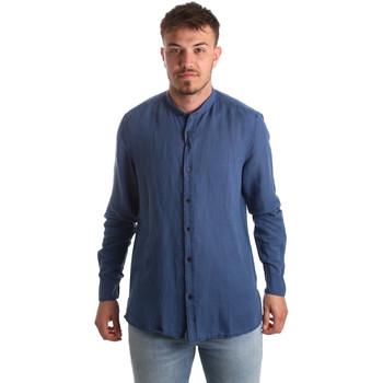 Textil Muži Košile s dlouhymi rukávy Antony Morato MMSL00547 FA400051 Modrý
